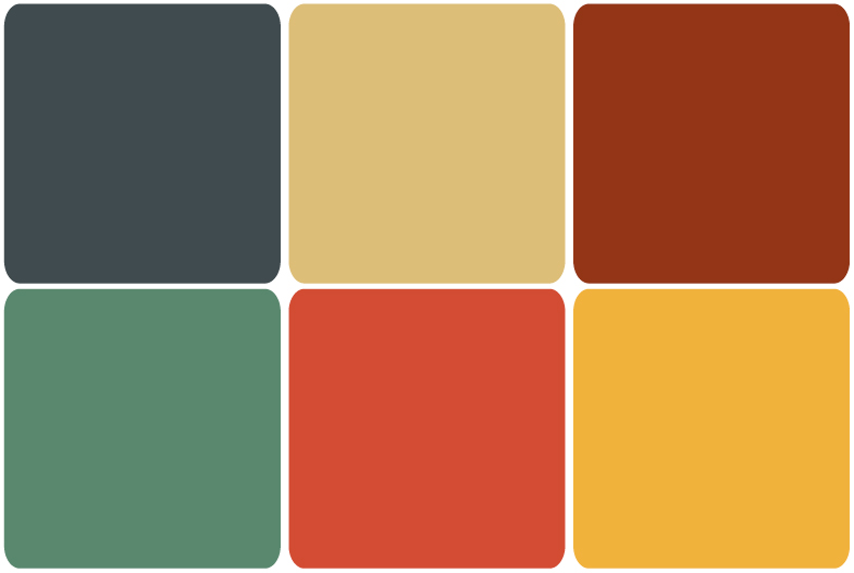Desk lamp palette