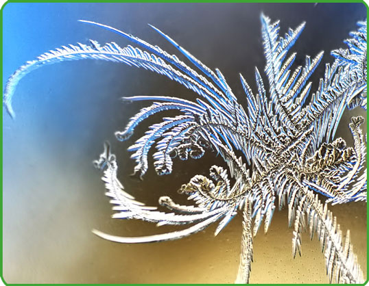 Frost-on-glass-framed