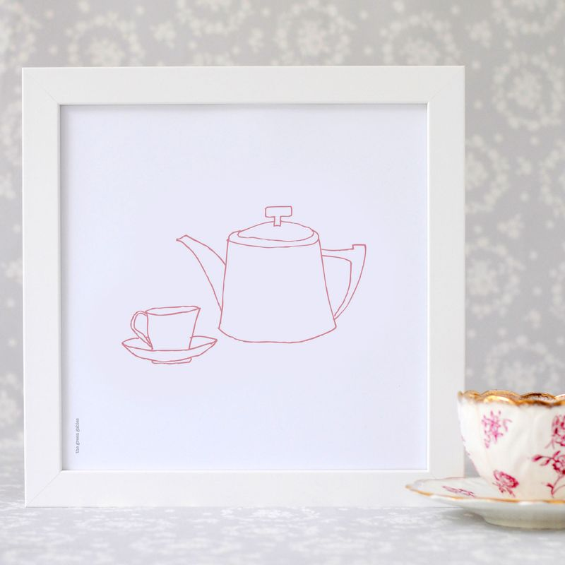 Tea-set-framed-print