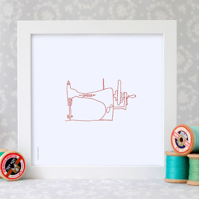 Sewing-Machine-framed-print